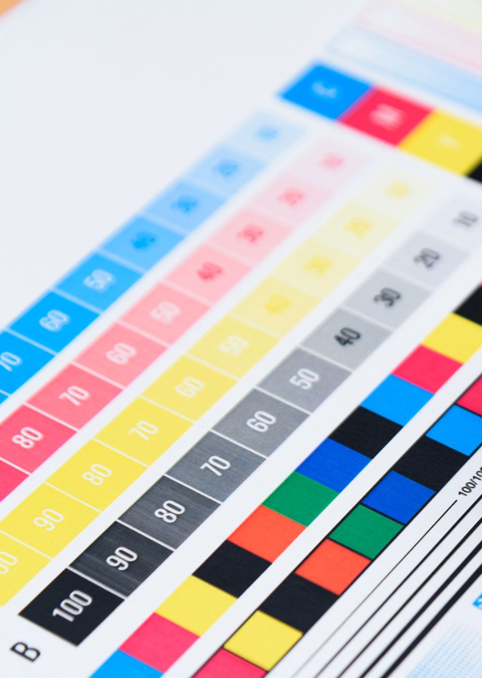 PPS printing colour chart